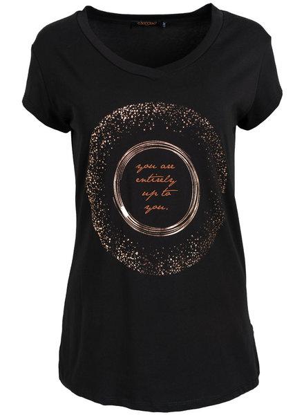 Gemma Ricceri Shirt zwart/camel Bente
