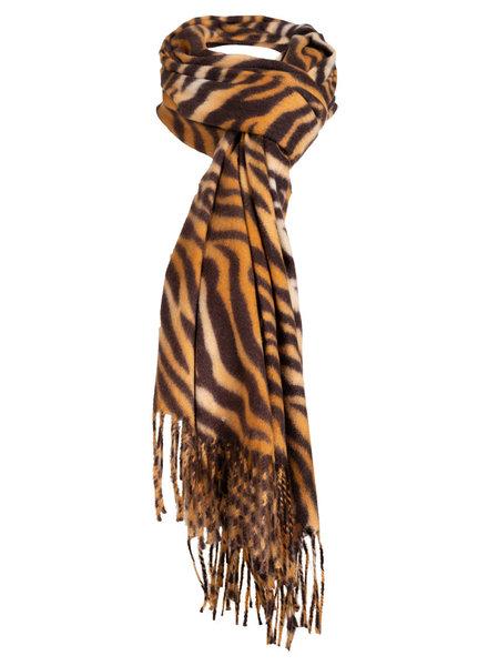 Wannahavesfashion Sjaal camel zebraprint