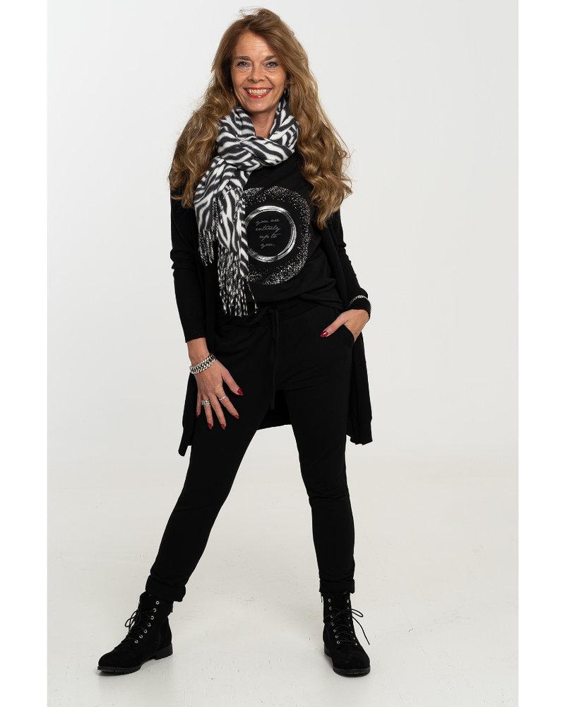 Gemma Ricceri Shirt zwart/grijs Bente