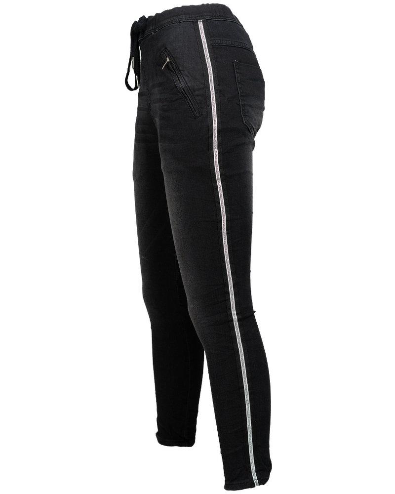 place du Jour Jog jeans zwart Mas