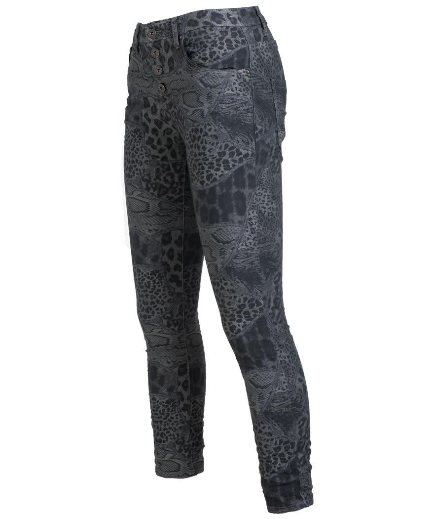place du Jour jeans grijs/zwart Nina
