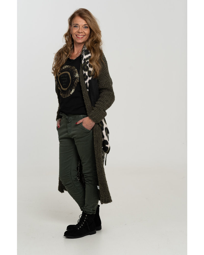 Gemma Ricceri Shirt zwart/groen Bente