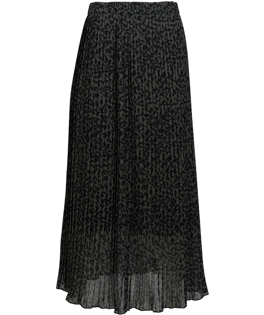 Wannahavesfashion Rok zwart/groen plisse Anita