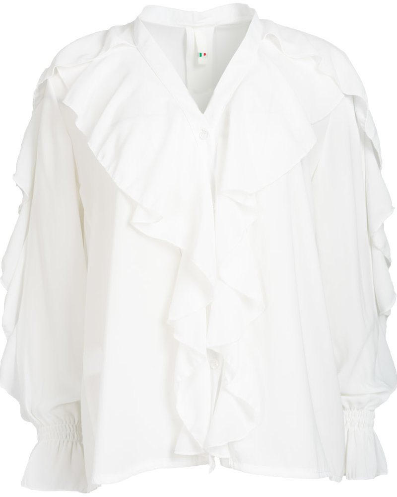 Wannahavesfashion Blouse off white Marloes