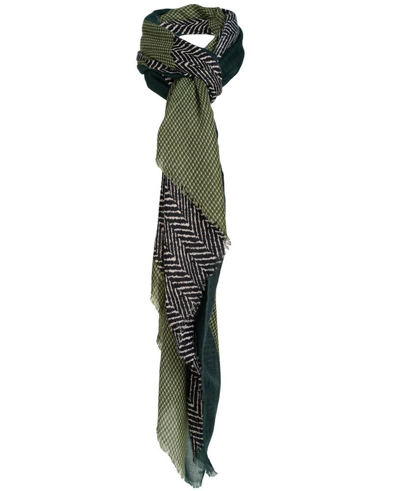 Wannahavesfashion Sjaal zwart/groen Jovi