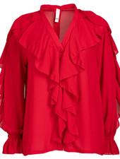 Wannahavesfashion Blouse rood Marloes