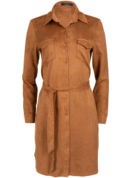 Rebelz Collection Jurk camel suedine
