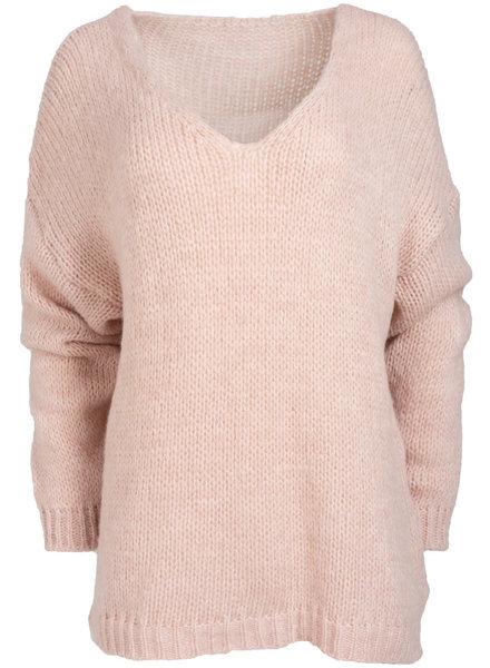 Wannahavesfashion Trui roze Margo