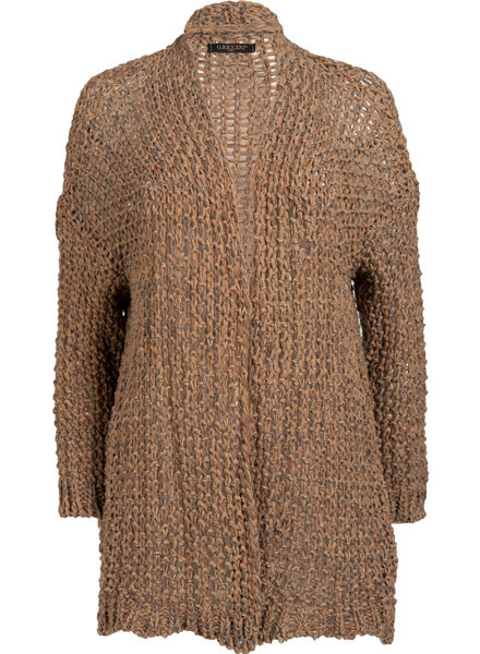 Gemma Ricceri Vest camel/blauw Mandy