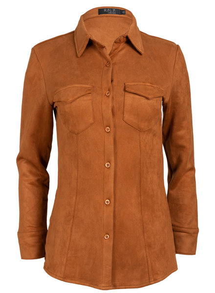 Rebelz Collection Blouse camel suedine