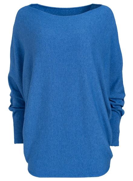 Wannahavesfashion Trui Kim jeansblauw
