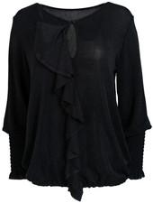 Wannahavesfashion Shirt zwart glitter Emma