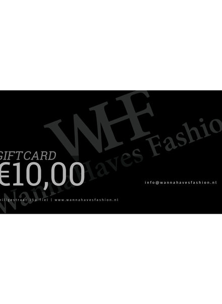 Wannahaves fashion Giftcard €10