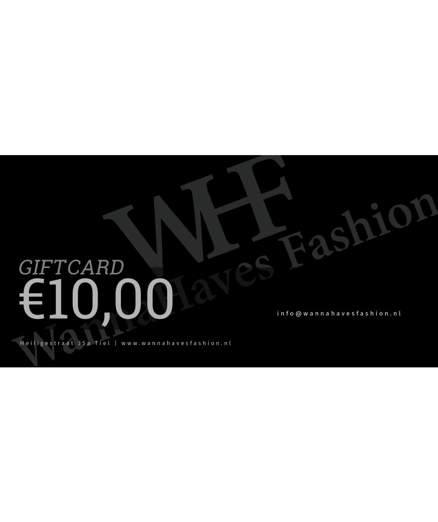 Wannahaves fashion Giftcard ?10