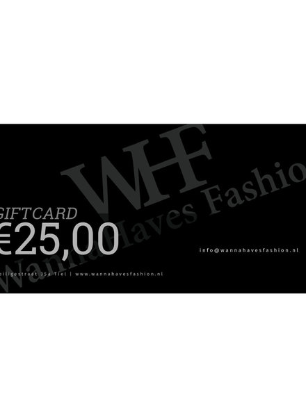 Wannahaves fashion Giftcard €25,-