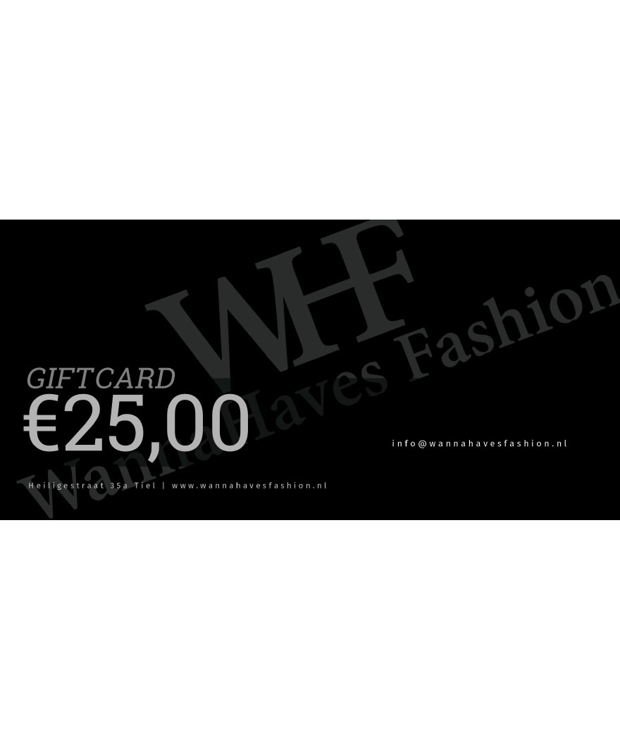 Wannahaves fashion Giftcard ?25,-