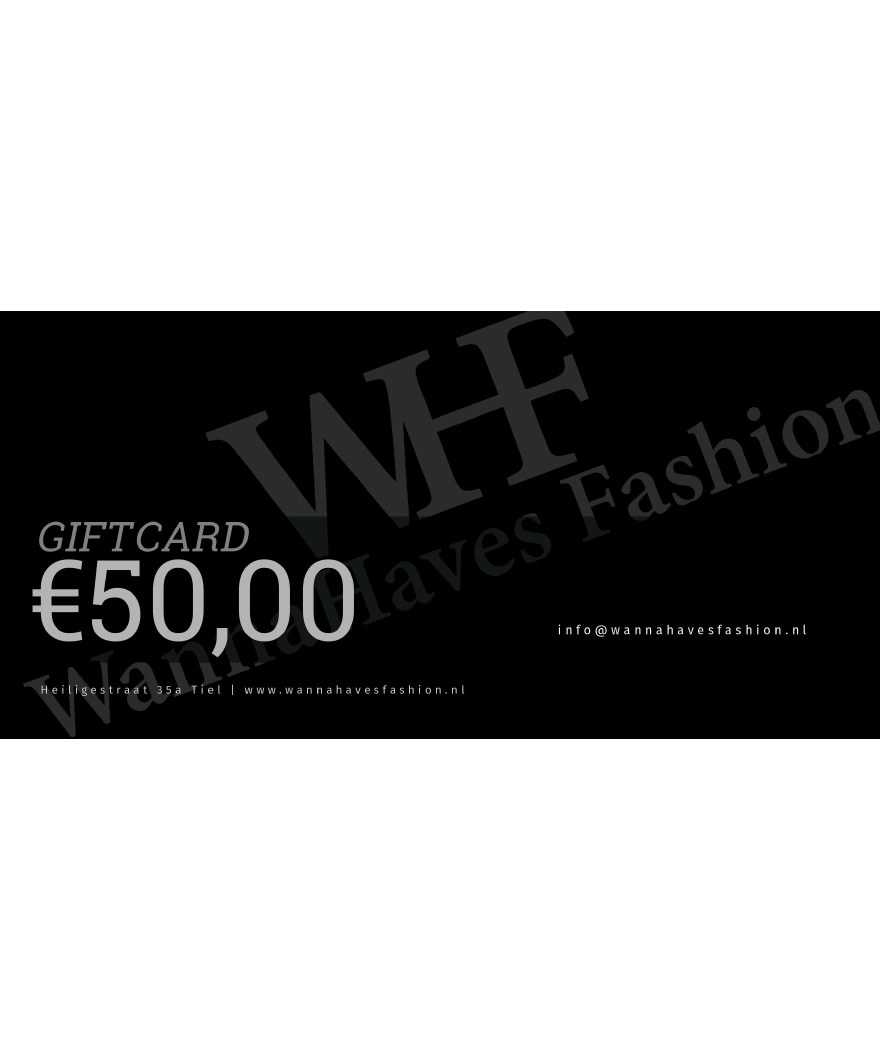 Wannahaves fashion Giftcard  ?50,-