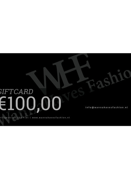 Wannahaves fashion Giftcard  €100