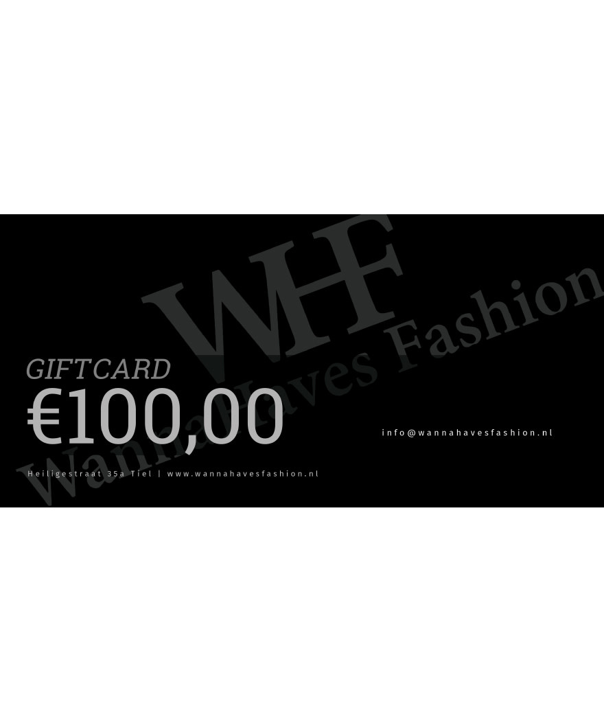 Wannahaves fashion Giftcard  ?100
