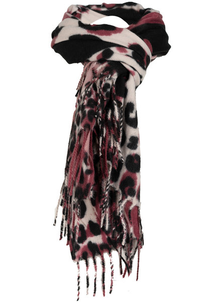 Wannahavesfashion Sjaal roze/zwart pantera