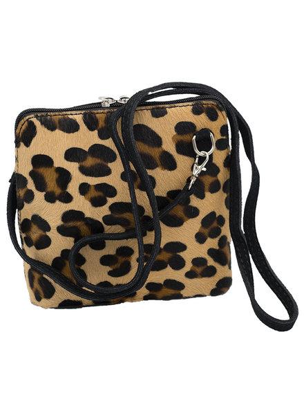 Tas leopard print bruin