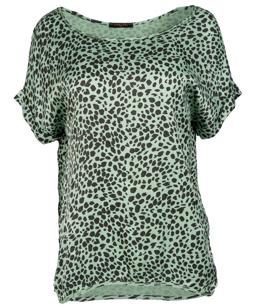 Gemma Ricceri Shirt silk touch lichtgroen Silvia