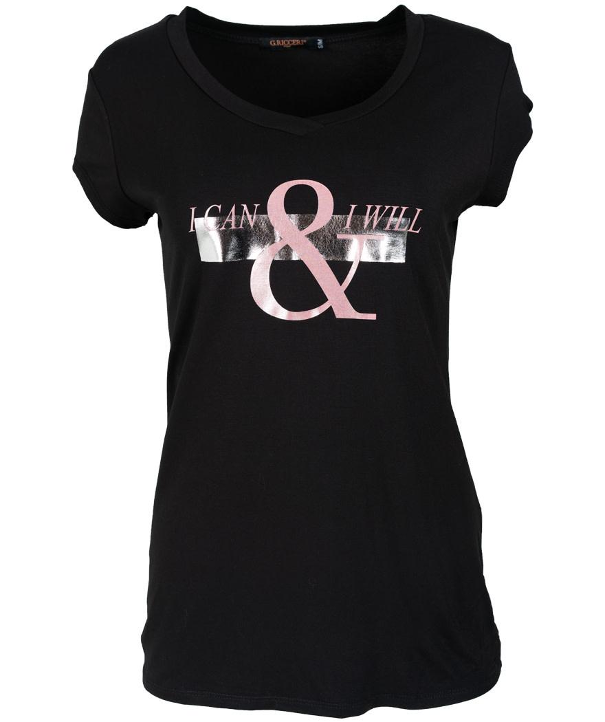 Gemma Ricceri Shirt zwart/roze Sia