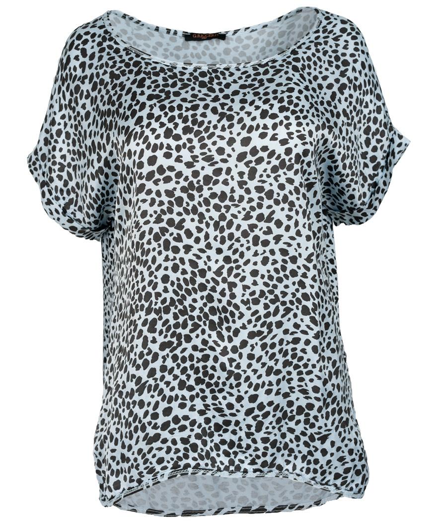 Gemma Ricceri Shirt silk touch lichtblauw Silvia