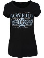 Gemma Ricceri Shirt zwart/blauw Bonjour