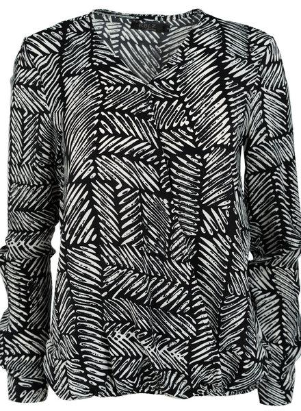 Rebelz Collection Blouse zwart/wit Emma