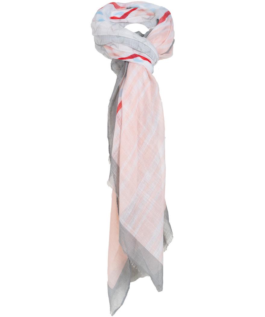 Wannahavesfashion Sjaal blauw/roze Pia