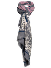 Wannahavesfashion Sjaal grijs/roze Pamela