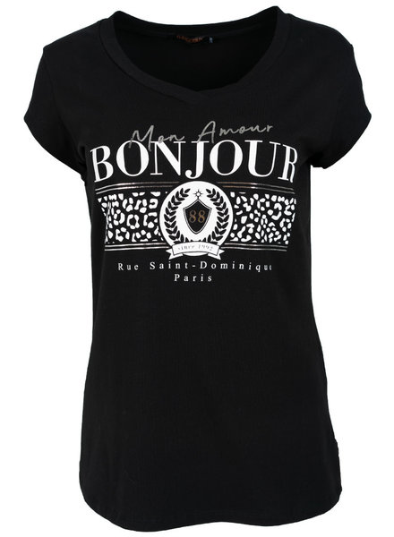 Gemma Ricceri Shirt zwart/wit bonjour