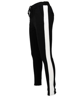 Rebelz Collection Pantalon zwart/off white Dunja