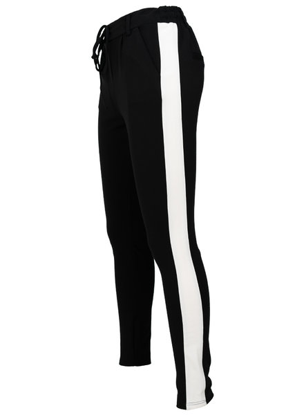 Rebelz Collection Pantalon zwart/off white Dunja