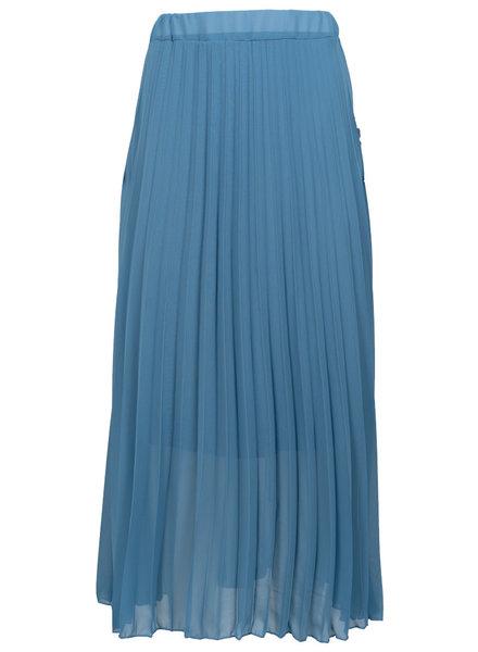 Gemma Ricceri Rok blauw plisse Tanja