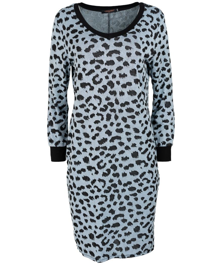 Gemma Ricceri Sweaterdress lichtblauw/zwart Kara