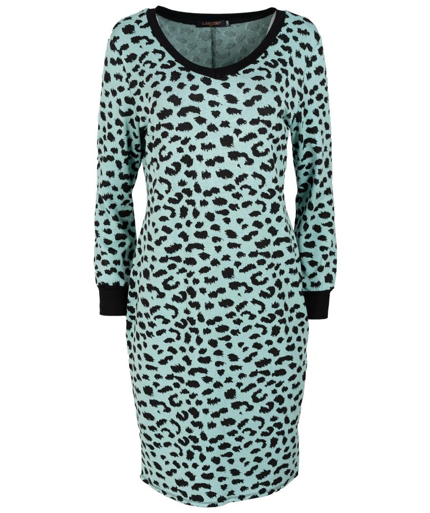 Gemma Ricceri Sweaterdress mintgroen/zwart Kara