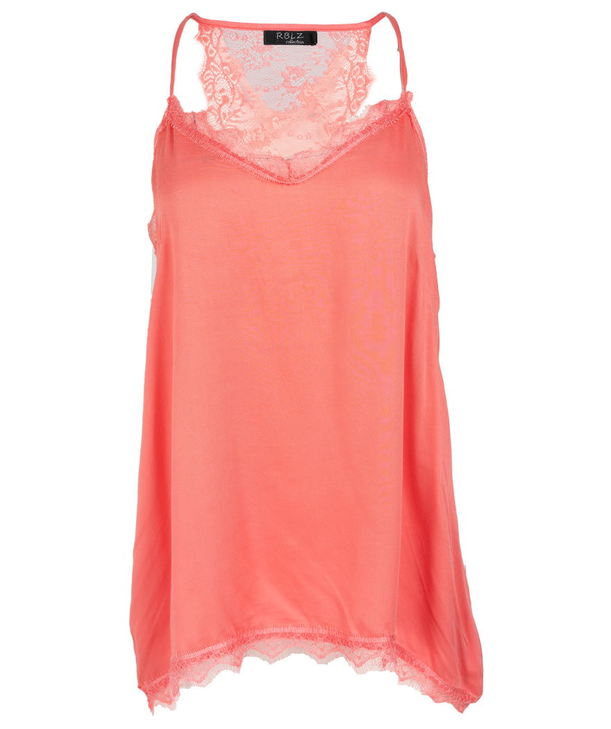 Rebelz Collection Top koraal Lace