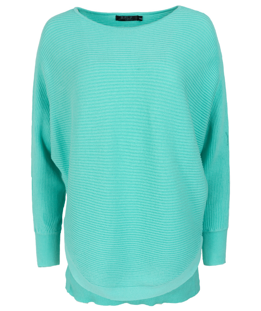 Rebelz Collection Trui turquoise Loes