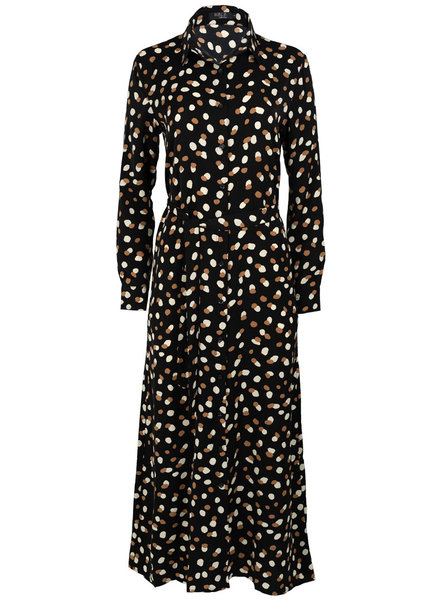 Rebelz Collection Jurk zwart/bruin Maxi