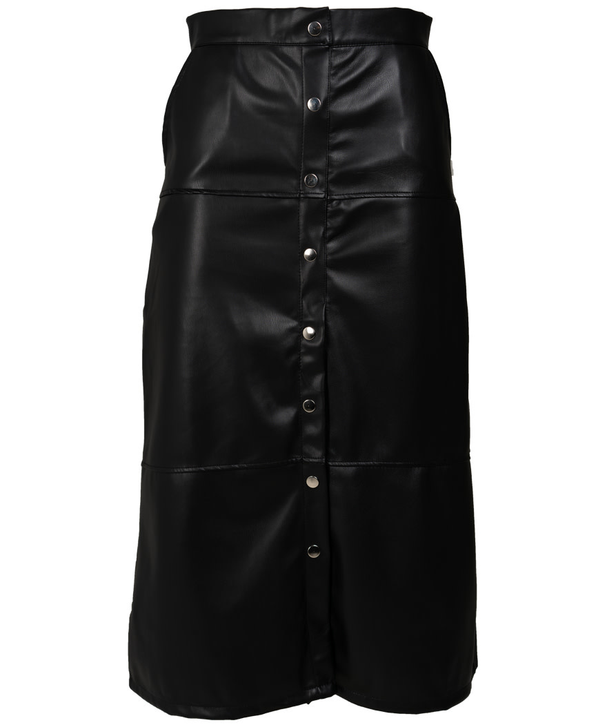 Rebelz Collection Rok zwart leather look Sam