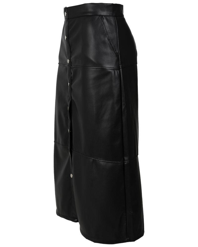 Rebelz Collection Rok zwart leather look Sam