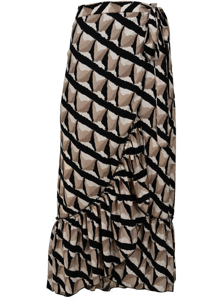 Rebelz Collection Rok zwart/beige Rachel