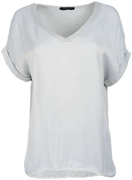 Gemma Ricceri Shirt lichtgrijs silk touch v hals