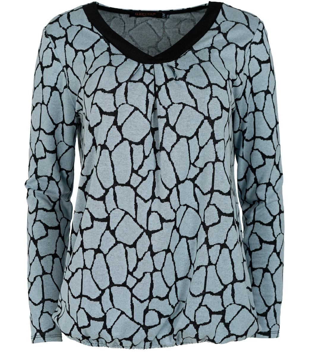 Gemma Ricceri Shirt jeansblauw Lina