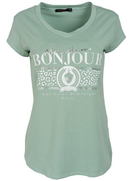 Gemma Ricceri Shirt mintgroen Bonjour