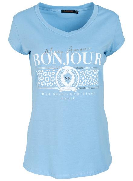 Gemma Ricceri Shirt lichtblauw Bonjour