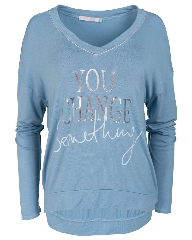 Gemma Ricceri Shirt jeansblauw Tanja