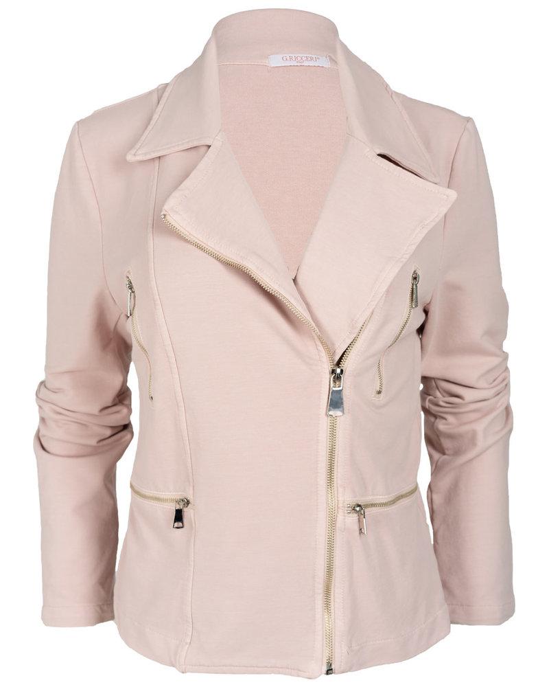 Gemma Ricceri Blazer roze joggingstof Loes